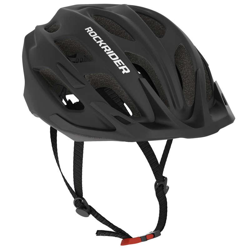 SPORT TRAIL MTB HELMETS ADULT Cycling - 500 Mountain Biking Helmet - Black ROCKRIDER - Cycling
