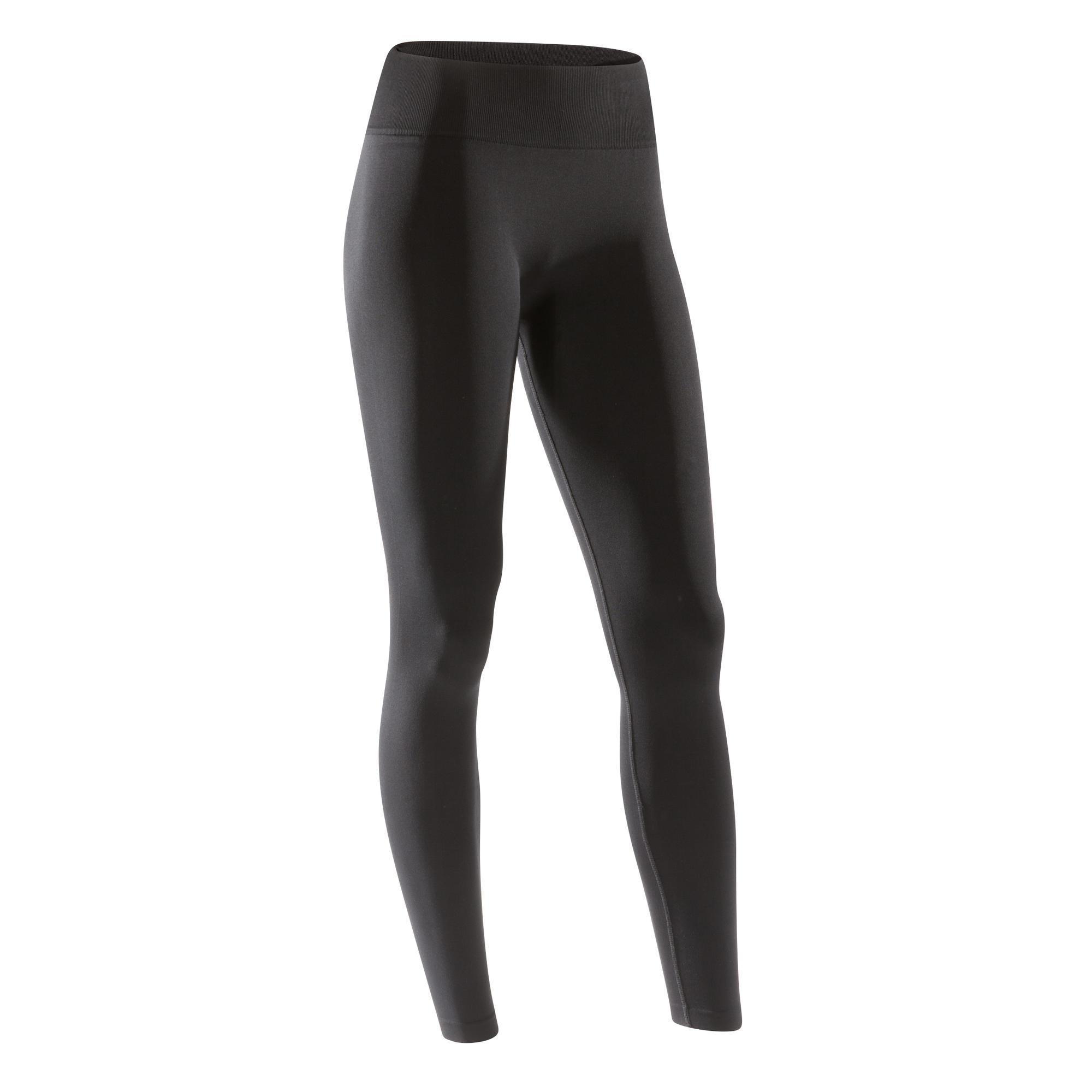 Tanz-Leggings Modern Dance nahtlos Damen schwarz | Bekleidung > Hosen > Leggings | Domyos