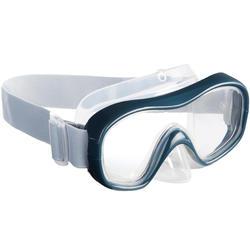 Máscara de Snorkeling para adulto ou criança SNK 500 cinza