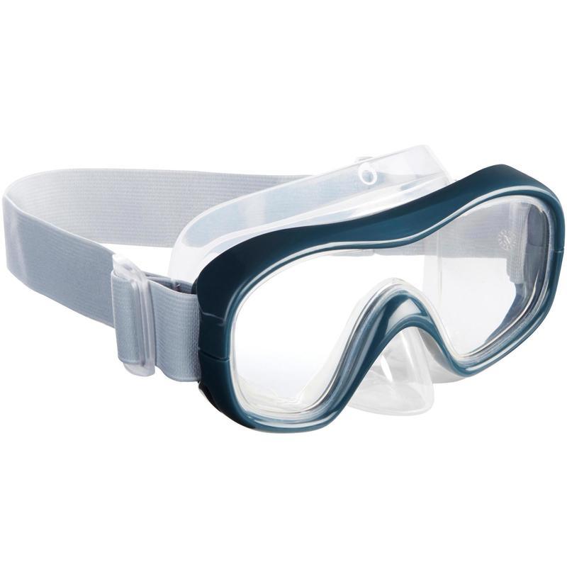 Mască Snorkeling SNK 500 Gri Adulţi/Copii