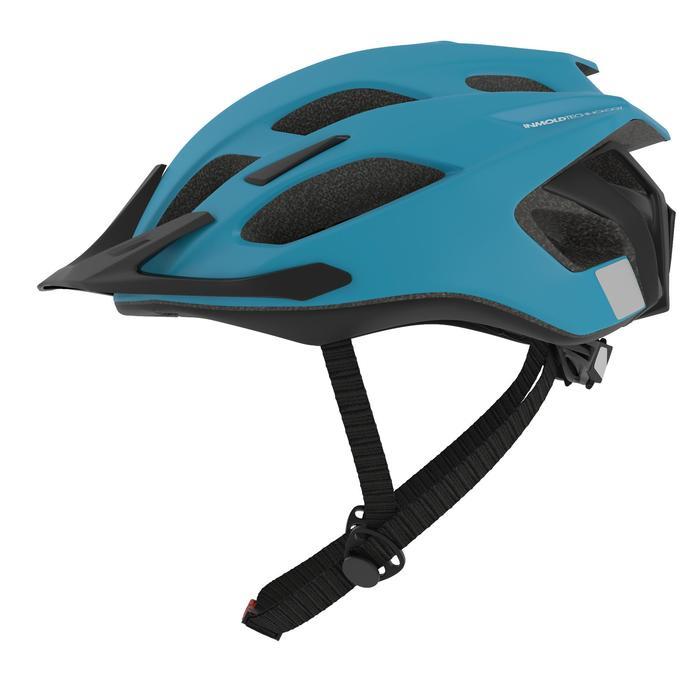 500 登山自行車安全帽 - 藍