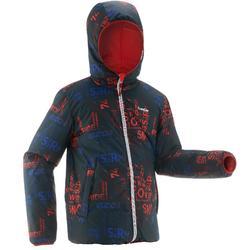 Ski-jas voor kinderen SKI-P JKT 100 warm reverse zwart