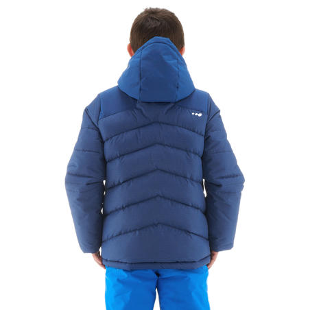 CHILDREN'S SKI JACKET WARM 500 - BLUE