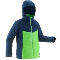 Ski-jas voor kinderen 300 groen/blauw
