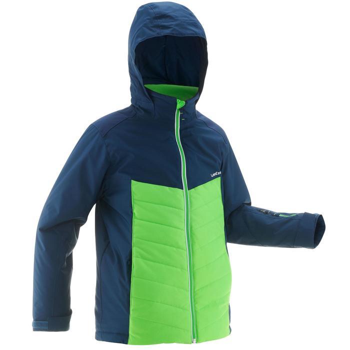 Skijacke Piste 300 Kinder grün / blau