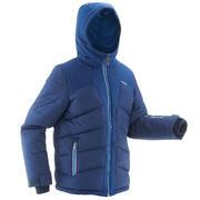 Modra smučarska jakna 500 za dečke