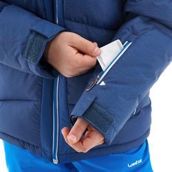 Daunen-Skijacke 500 Warm Kinder Jungen blau