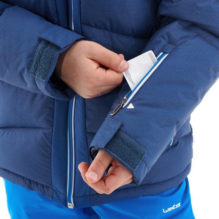 Ski-jas voor kinderen 500 Warm blauw