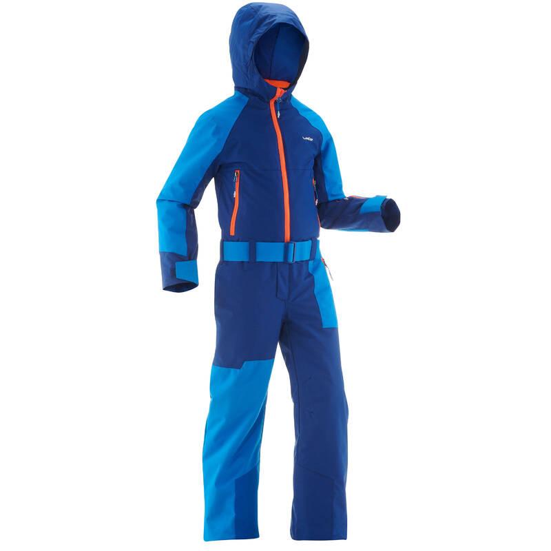 CHLAPECKÉ OBLEČENÍ NA LYŽOVÁNÍ (POKROČILÍ) Lyžování - DĚTSKÁ KOMBINÉZA 500 MODRÁ WEDZE - Lyžařské oblečení a doplňky