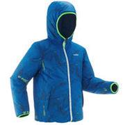 Modra obojestranska smučarska jakna 100 za dečke