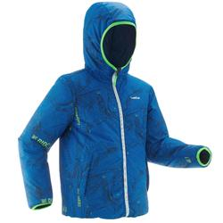 Ski-jas voor kinderen SKI-P JKT 100 warm reverse blauw