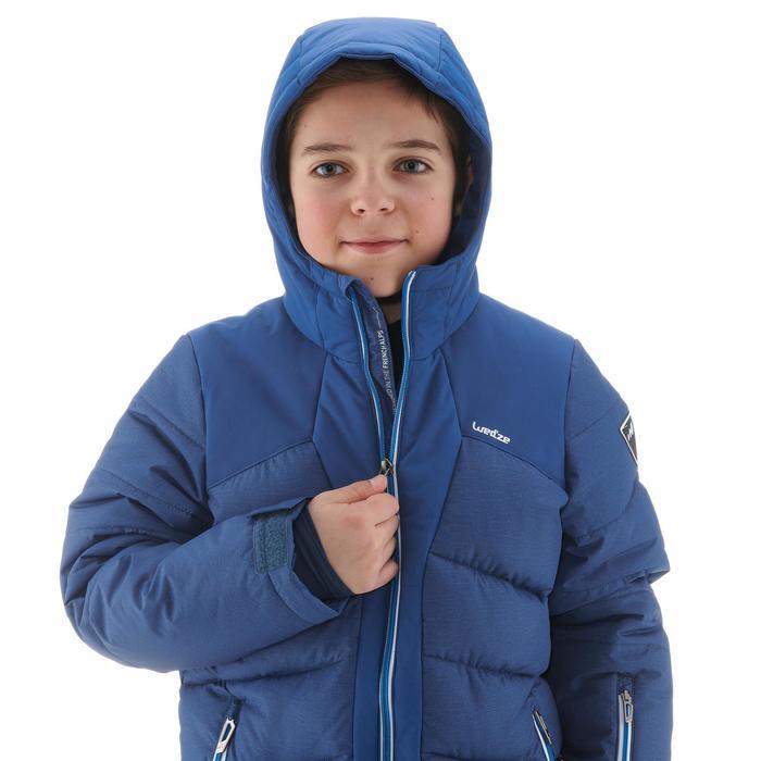Ski-jas voor jongens SKI-P JKT 500 warm blauw