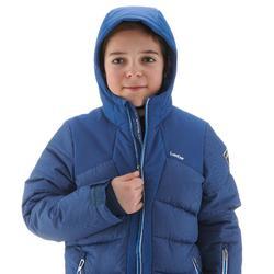 Skijacke Warm 500 Kinder blau