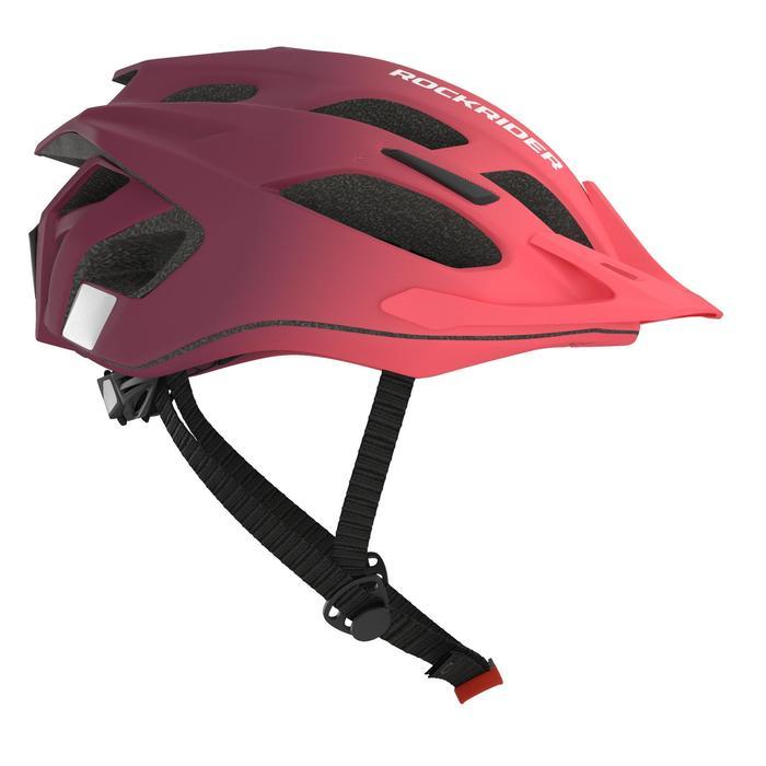 女款登山車安全帽500 - 粉紅/紫色