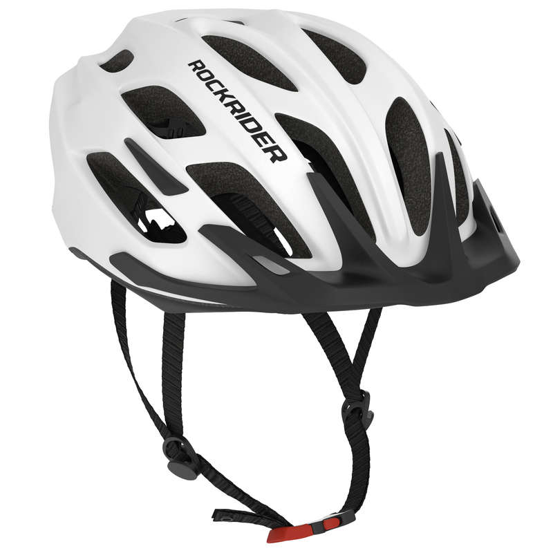 SPORT TRAIL MTB HELMETS ADULT Cycling - 500 Mountain Biking Helmet - White ROCKRIDER - Cycling