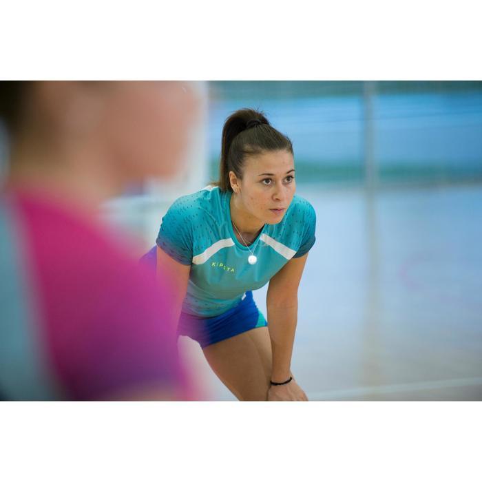 Volleybalshirt V500 voor dames groen