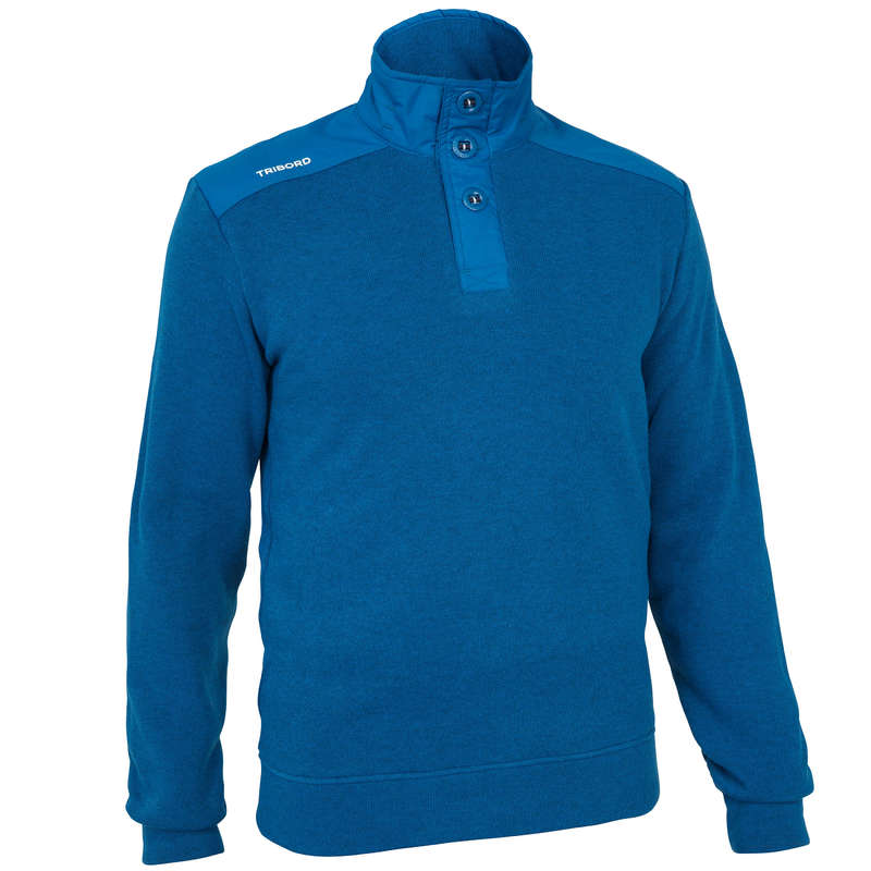 MAN SAILING FLEECE SOFTSHELL Sailing - M Sailing Pullover 100 - Blue TRIBORD - Sailing Clothing