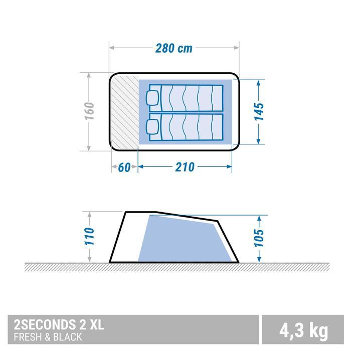 Tente de camping 2 SECONDS 2 XL FRESH&BLACK | 2 personnes blanche - 1347517