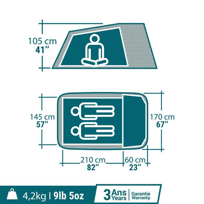 Tente de camping ARPENAZ 2 XL FRESH&BLACK | 2 personnes blanche - 1347518