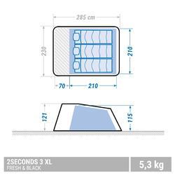 CAMPING TENT - 2 SECONDS - FRESH & BLACK XL - 3 PERSON