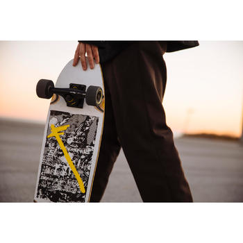 Cruiser Skateboard CITY THRASHER RIDE blanc