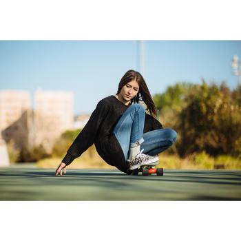 Chaussures basses skateboard-longboard adulte VULCA 100 CANVAS L Flowers