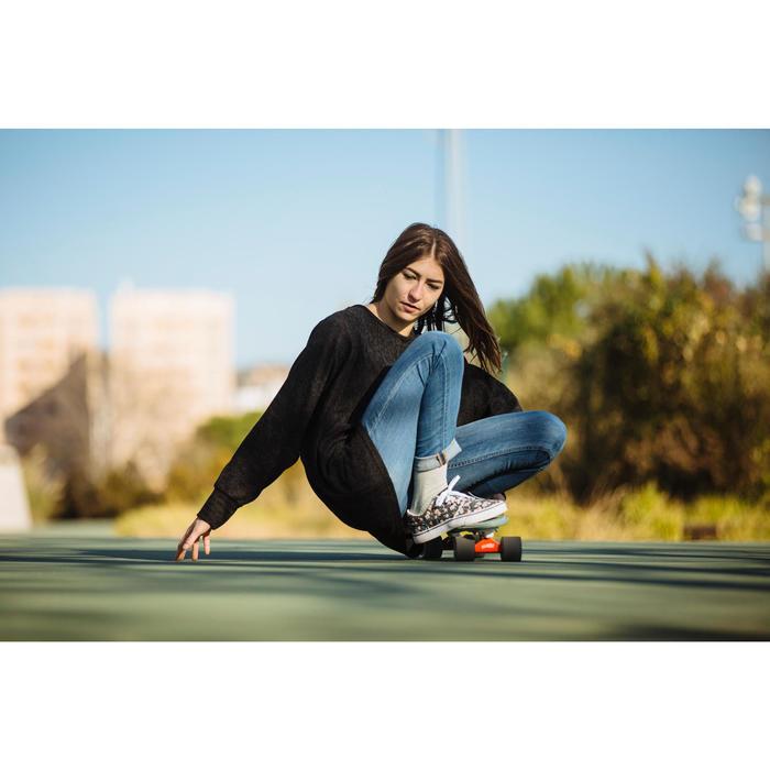 Zapatillas caña baja skateboard-longboard adulto VULCA 100 CANVAS L Flores