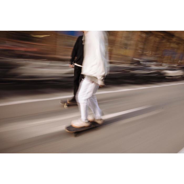 Skateschuh Vulca 500 Erwachsene Gummisohle creme