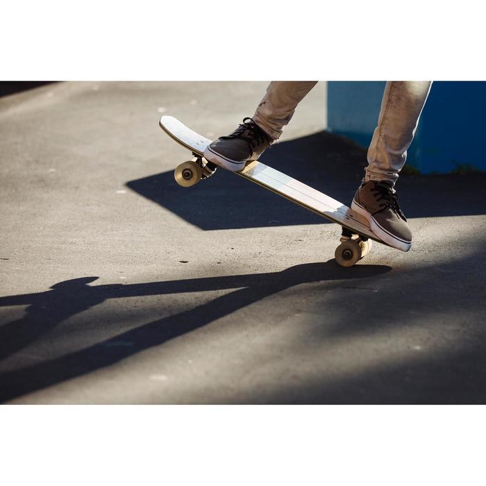 Skateschuh Vulca 100 Canvas Longboard schwarz