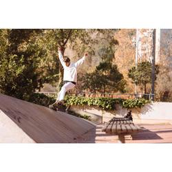 Zapatillas Bajas Skateboard Adulto VULCA 500 Crema, suela goma