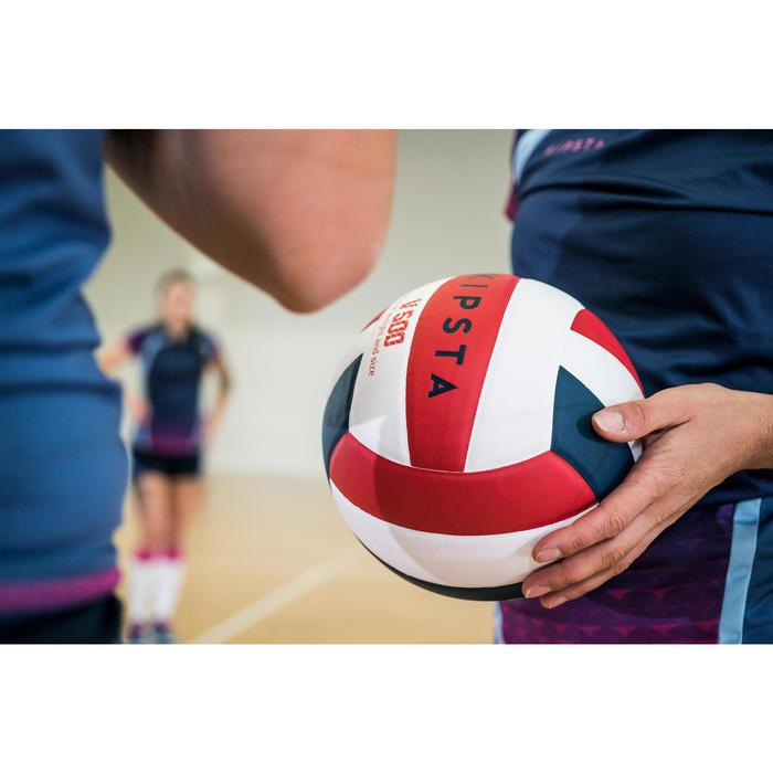 Ballon de volley-ball V300 blanc et bleu - 1347640