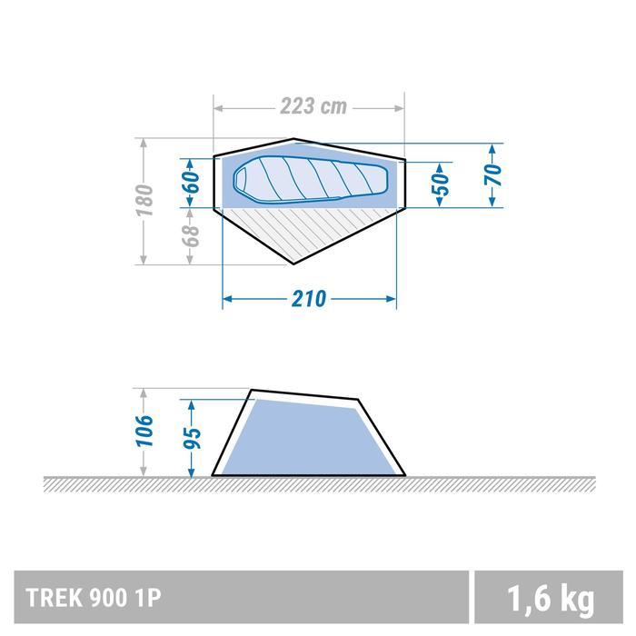 極輕量單人健行帳TREK 900-灰色