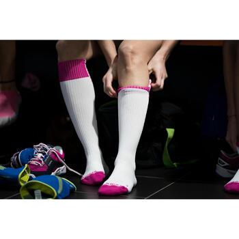 Volleyballsocken V500 Damen weiß/rosa