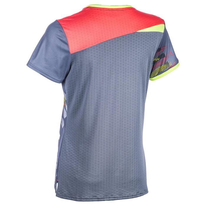 Handbalshirt dames H500 grijs/geel