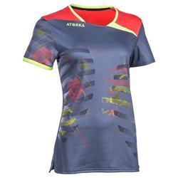 Camiseta de balonmano adulto H500 gris / rosa