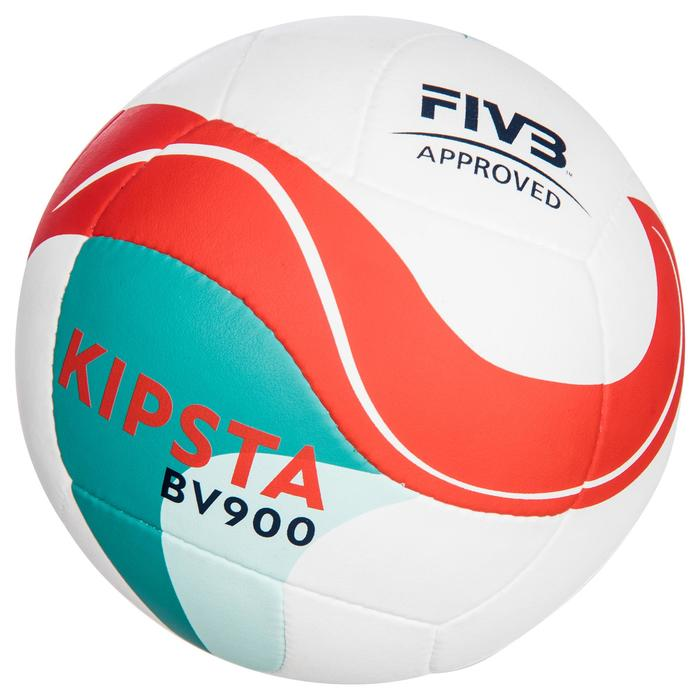 Ballon de beach-volley BV900 FIVB blanc vert et rouge - 1347700