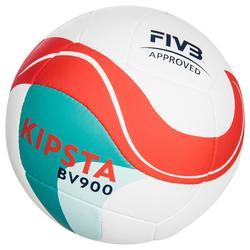 Beachvolleybal BV900 FIVB approved wit, groen en rood