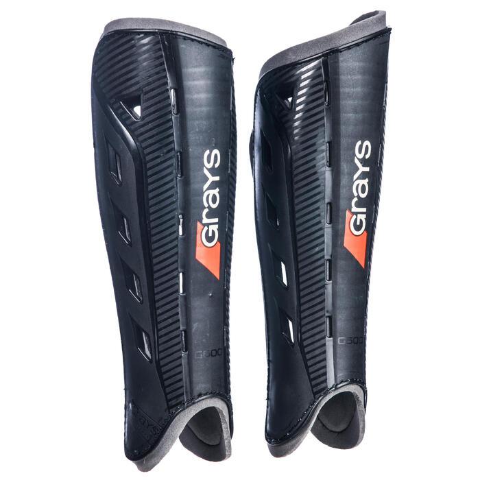 Protège-tibias de hockey sur gazon intensité moyenne adulte G600 noir