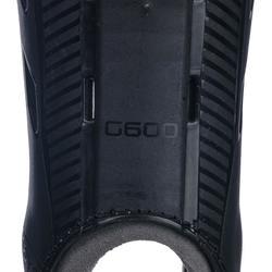 Schienbeinschoner G600 Feldhockey mittlere Intensität Erwachsene schwarz