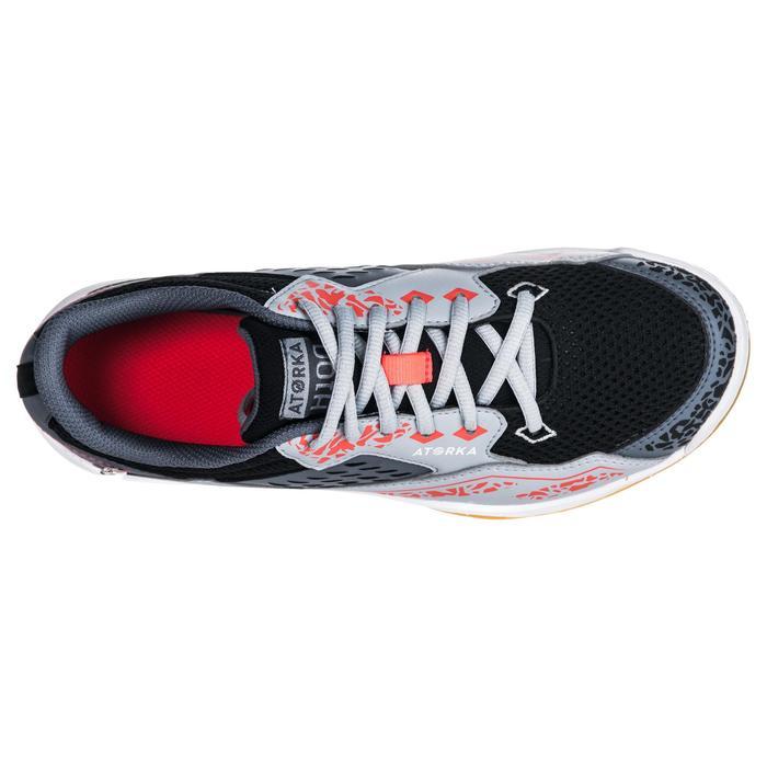Handbalschoenen H100 grijs/roze