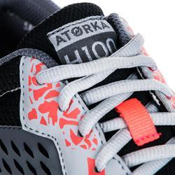 Handbalschoenen voor volwassenen H100 grijs/roze
