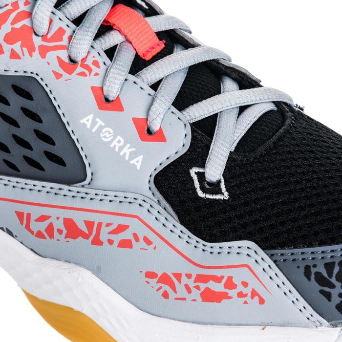 Chaussures de handball adulte H100 gris / rose