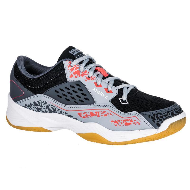 Adult Handball Shoes H100 - Grey/Pink