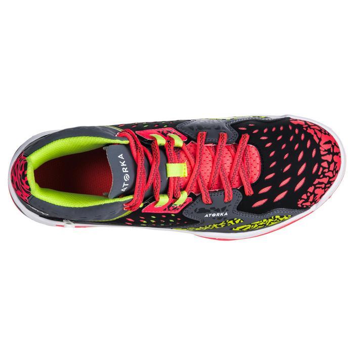 Chaussures de handball Mid femme grises et roses - 1347769
