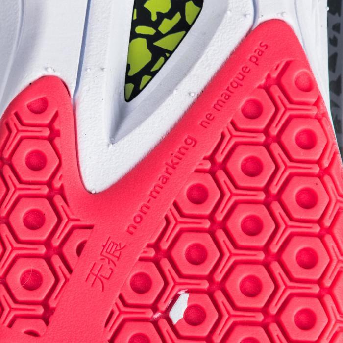 Chaussures de handball Mid femme grises et roses - 1347770