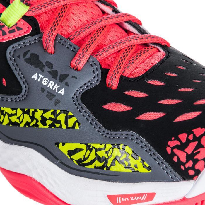 Chaussures de handball Mid femme grises et roses - 1347771