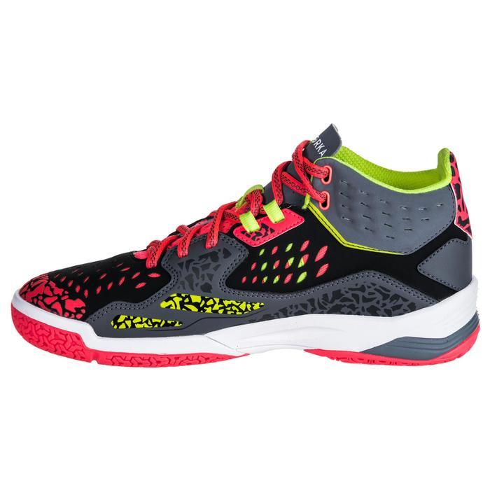Chaussures de handball Mid femme grises et roses - 1347773