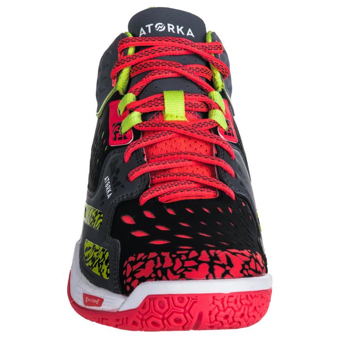 Chaussures de handball Mid femme grises et roses - 1347774