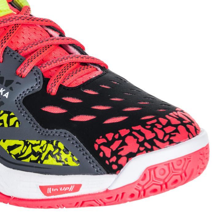 Chaussures de handball Mid femme grises et roses - 1347775