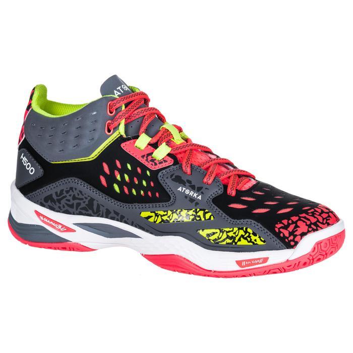 Chaussures de handball Mid femme grises et roses - 1347776